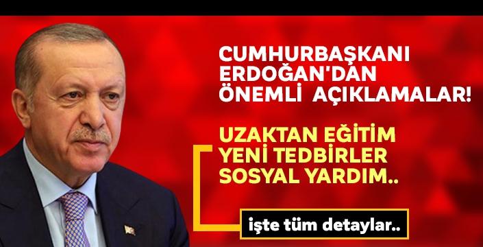 Cumhurbaşkanı Recep Tayyip Erdoğan, Kabine toplantısının ardından önemli açıklamalarda bulundu...