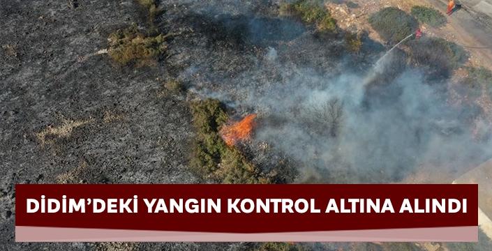 Didim'deki yangın kontrol altına alındı