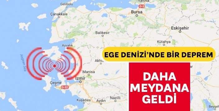 Ege Denizi'nde bir deprem daha meydana geldi! Şiddeti ve derinliği belli oldu...