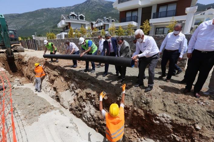 Hisarönü-Ovacık kanalizasyon hattının yüzde 20´si tamamlandı