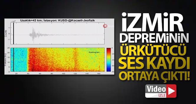 İzmir depreminin ürkütücü ses kaydı! Tıkla, dinle..