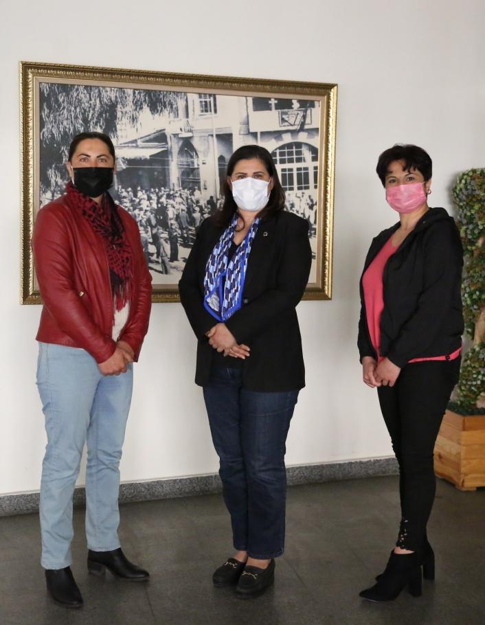 Kadın girişimci Güldal ve aza Yıldırım, Başkan Çerçioğlu ile bir araya geldi