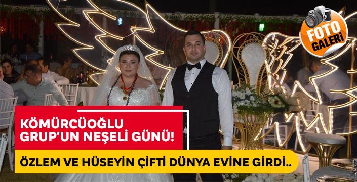 Kömürcüoğlu Grup'un neşeli günü! Özlem ve Hüseyin çifti dünya evine girdi..