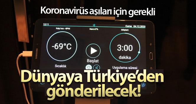 Koronavirüs aşıları için gerekli olan eksi 70 derece ultra soğutucular dünyaya Türkiye'den gönderilecek