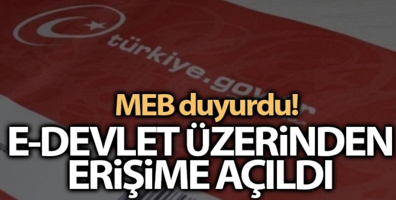 MEB: 'Bakanlığımızın merkez ve taşra teşkilatı personelinin görev yeri belgesi, e-Devlet üzerinden erişime açıldı'