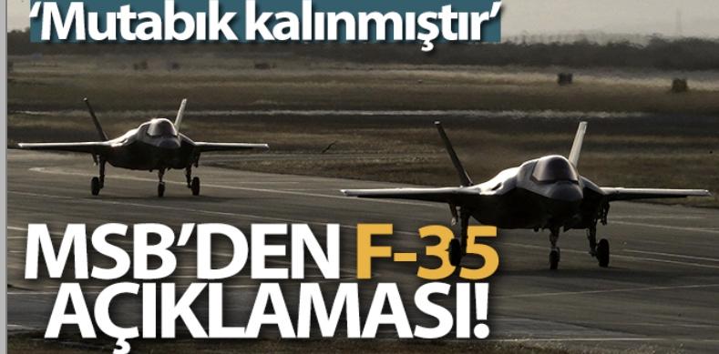 MSB'den F-35 açıklaması!