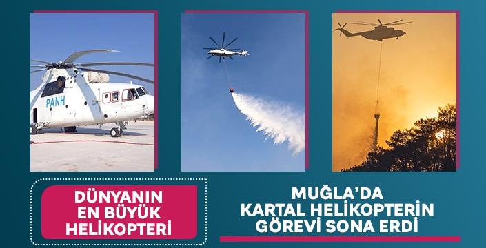 Muğla'da Kartal Helikopterin Görevi Sona Erdi