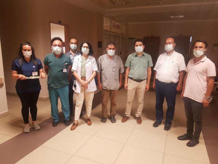 Nazilli Devlet Hastanesi´nde sağlıkçılar bayramlaştı