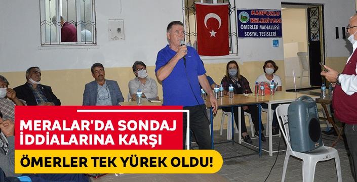 Sondaj iddialarına karşı bir araya gelen Ömerler mahallesinde vatandaşlara CHP ve İYİ Parti'den destek!