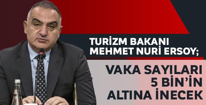 Bakan Ersoy açıkladı: 17 Mayıs'ta vaka sayıları 5 binin altına inecek