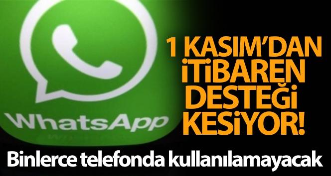 Whatsapp 1 Kasım'dan itibaren binlerce telefonda kullanılamayacak