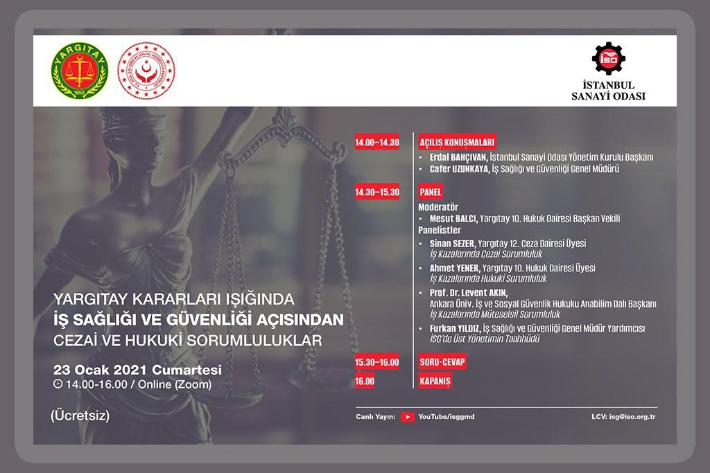 Yargıtay Kararları Işığında İş Sağlığı ve Güvenliği Açısından Cezai ve Hukuki Sorumluluklar Semineri'ne Davetlisiniz